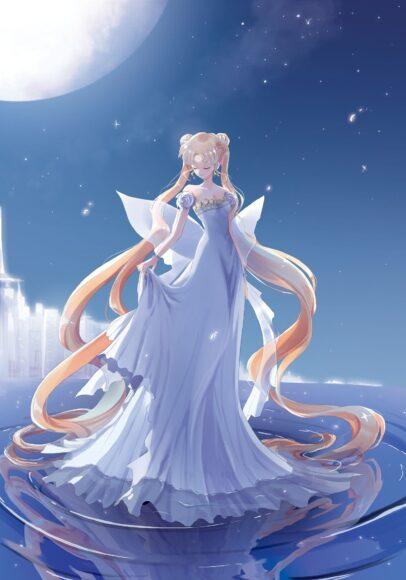 hình ảnh của thủy thủ mặt trăng 3d xinh như thiên thần