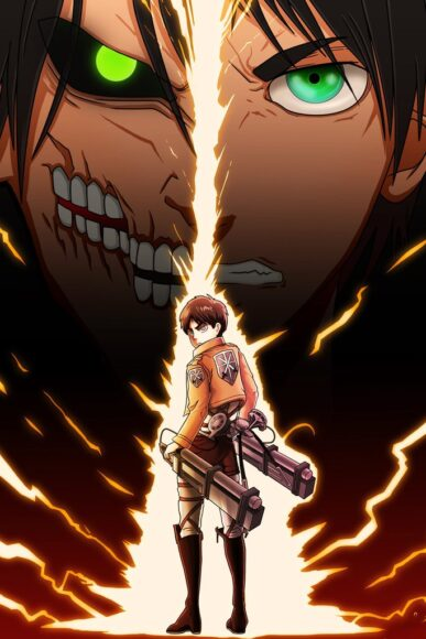 hình ảnh Eren buff sức mạnh trong Attack On Titan