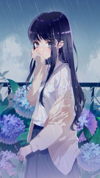 Hình ảnh hoạt hình buồn cô gái thất tình