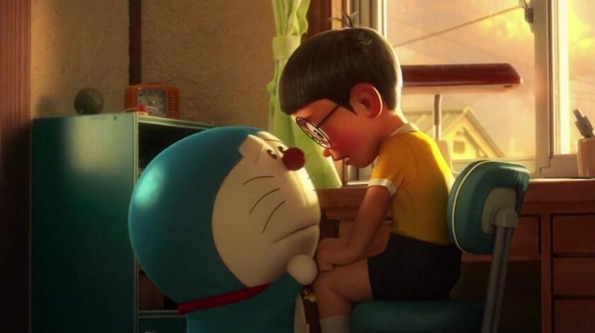 Hình ảnh hoạt hình buồn doraemon và nobita chia ly