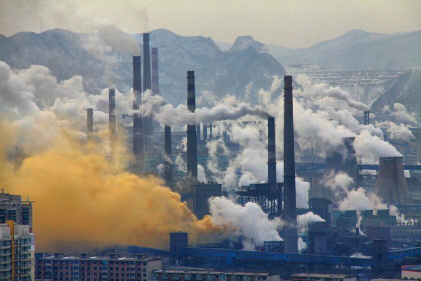 Hình ảnh khói ô nhiễm thành phố