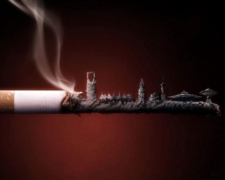Hình ảnh khói thuốc lá chất nhất