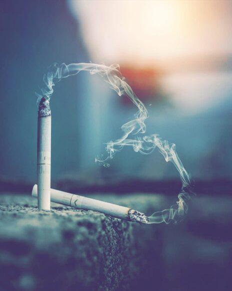 Hình ảnh khói thuốc lá trái tim