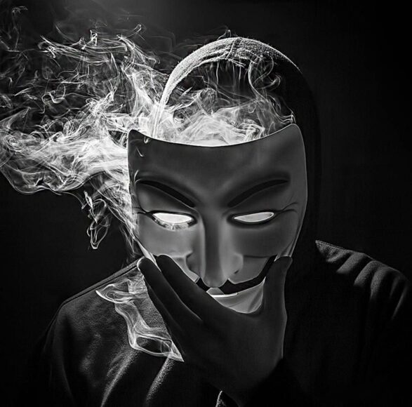 Hình ảnh khói thuốc mặt nạ ngầu chất