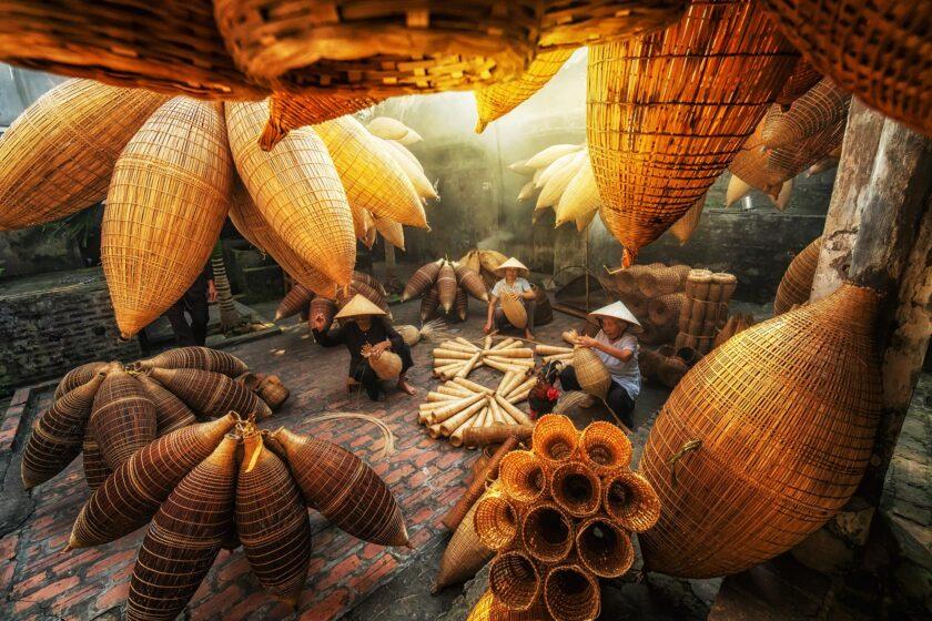 hình ảnh làng quê việt nam trù phú đầm ấm