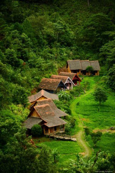 hình ảnh làng quê việt nam yên ả