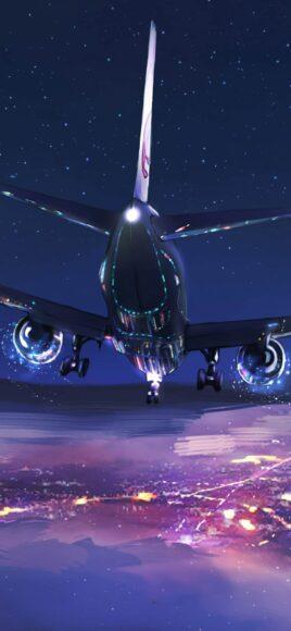 Hình ảnh máy bay boeing 737 đang hạ cánh