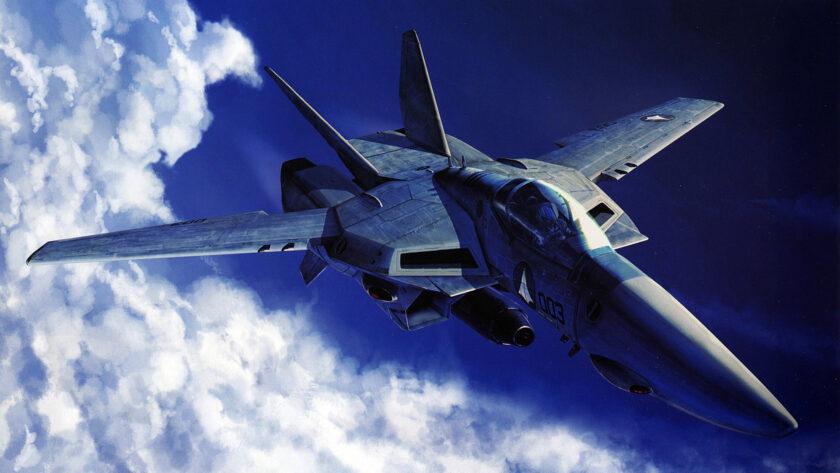 Hình ảnh máy bay chiến đấu giữa trời xanh