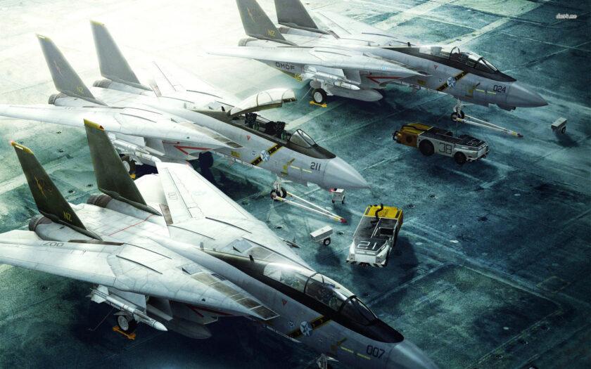 Hình ảnh máy bay đang được bảo trì