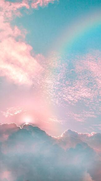 Hình ảnh mây cùng cầu vồng