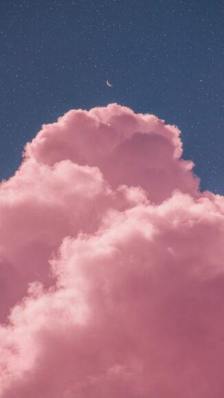 Hình ảnh mây hồng trên bầu trời