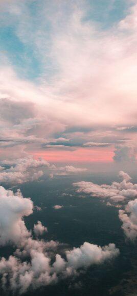Hình ảnh mây trên đồng bằng