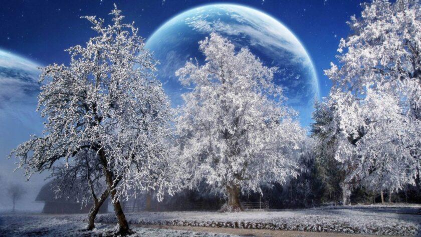Hình ảnh mùa đông lạnh được lồng ghép tuyệt đẹp