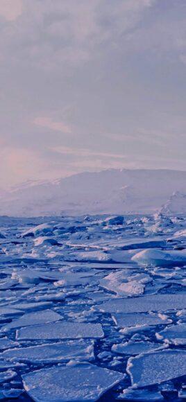 Hình ảnh mùa đông lạnh với những tảng băng trôi