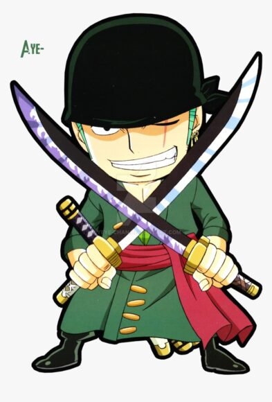 Hình ảnh one piece kiếm sĩ zoro cute