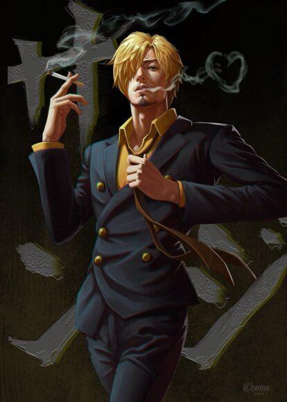 Hình ảnh one piece Sanji chất ngầu