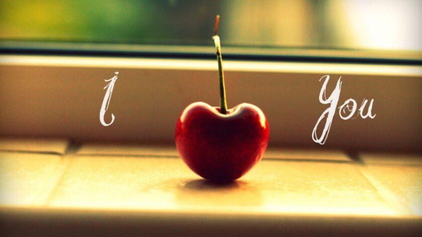 Hình ảnh quả cherry thay thế cho trái tim