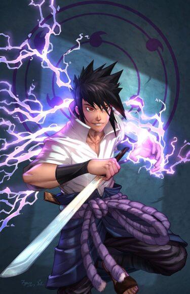 Hình ảnh Sasuke chiến đấu dũng cảm