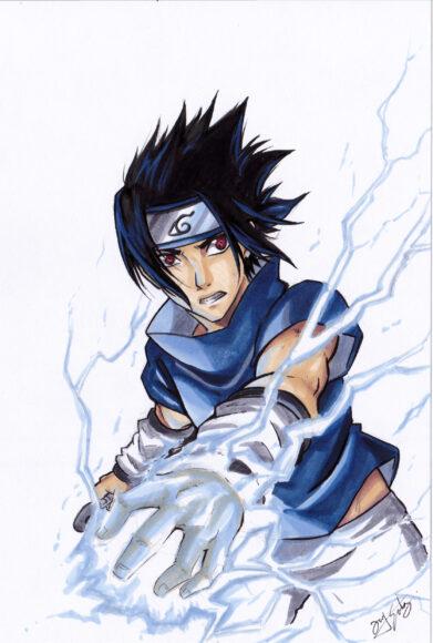 Hình ảnh Sasuke phản đòn đẹp nhất