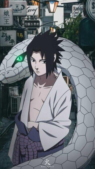 Hình ảnh Sasuke và linh thú chất nhất