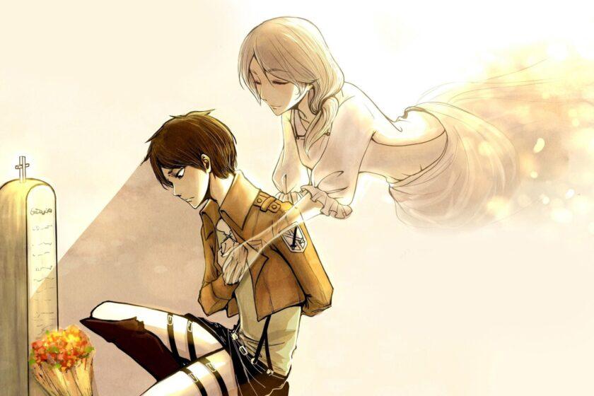 hình ảnh tình mẫu tử thiêng liêng giữa Eren và mẹ Carla