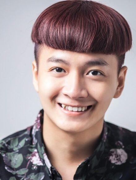 hình ảnh tóc đầu nấm của Ngô Kiến Huy