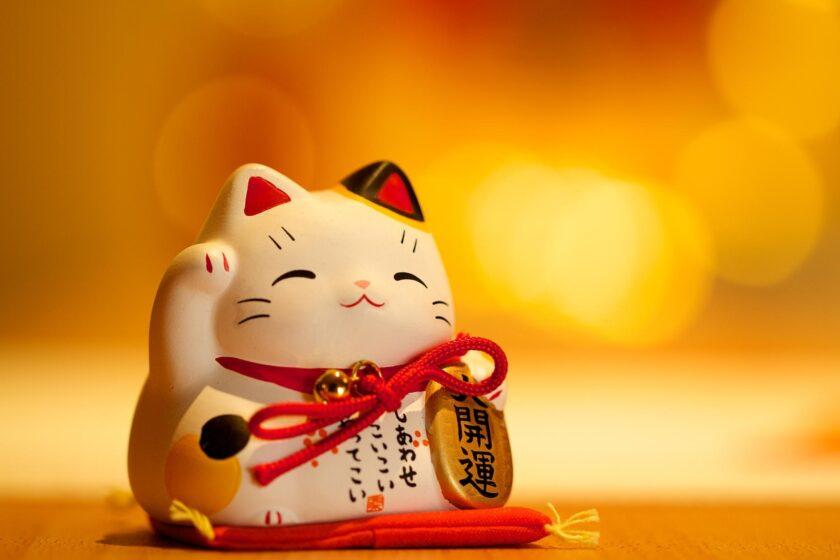 hình nền mèo thần tài may mắn, tài lộc