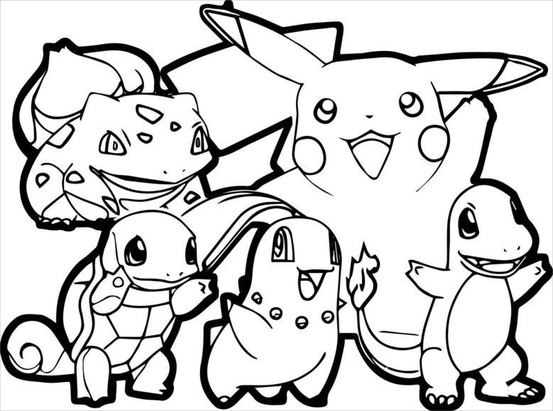tải tranh tô màu pokemon cho bé