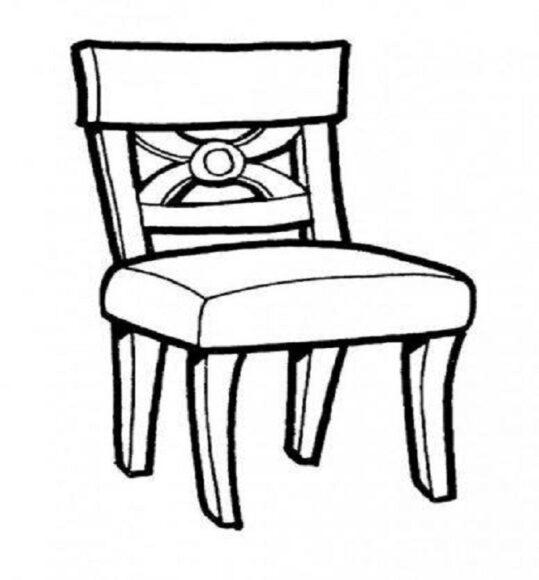Tô màu đồ dùng gia đình với cái ghế