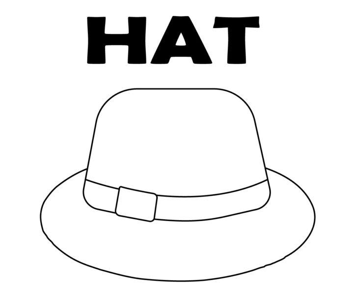 Tô màu đồ dùng gia đình với cái mũ