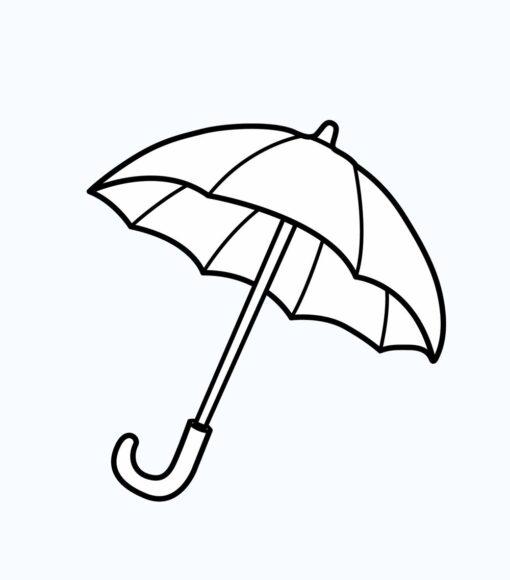 Tô màu đồ dùng gia đình với cái ô
