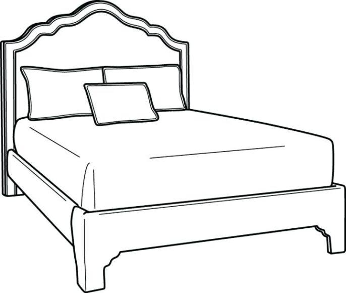 Tô màu đồ dùng gia đình với chiếc giường