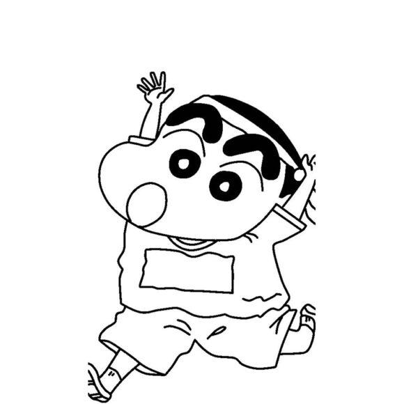 tổng hợp các bưc tranh tô màu Shin cậu bé bút chì