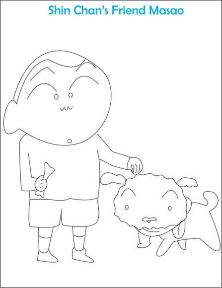 tranh tô màu bạn của Shin - Masao