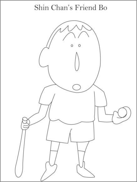 tranh tô màu cậu bé Bo - người bạn của Shin