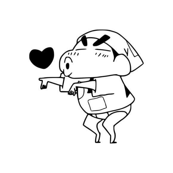 tranh tô màu cậu bé Shin hài hước