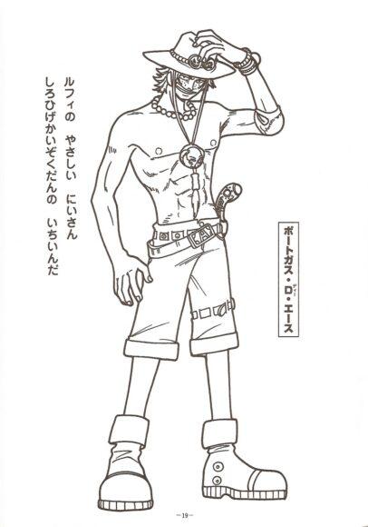 Tranh tô màu One Piece ACE anh trai của Luffy