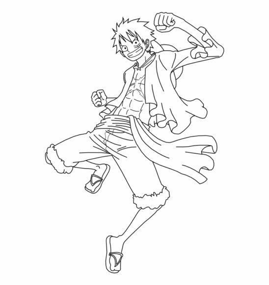 Tranh tô màu One Piece cùng thuyền trưởng Luffy ca tính