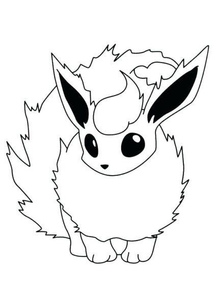 Tranh tô màu Pokemon cáo lửa