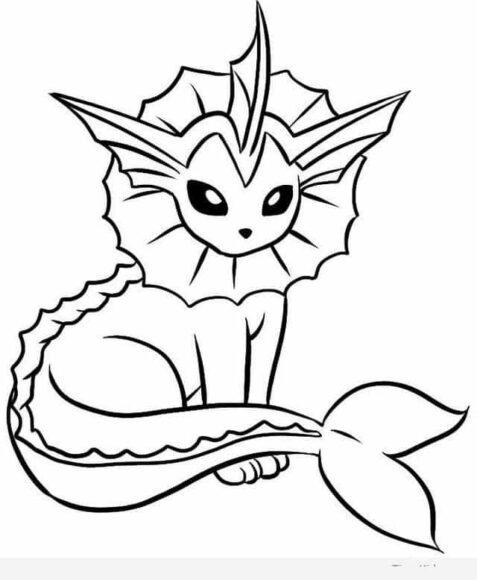 Tranh tô màu Pokemon sư tử cá