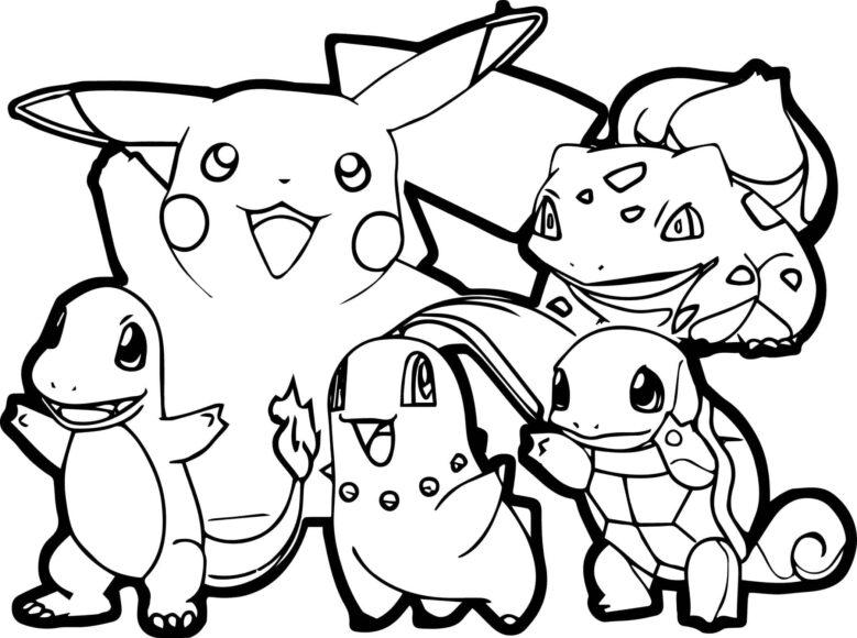 Tranh tô màu Pokemon xinh xắn