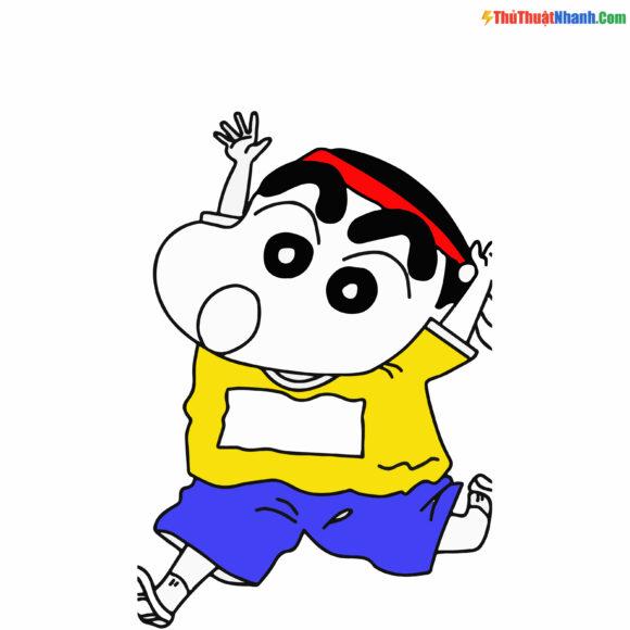 Tranh tô màu Shin cậu bé bút chì