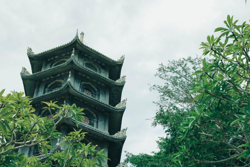 ảnh một góc tại một ngôi chùa tại Đà Nẵng