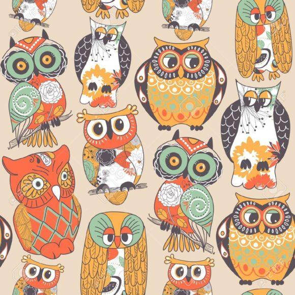hình ảnh chim cú mèo tranh vẽ cho các bé