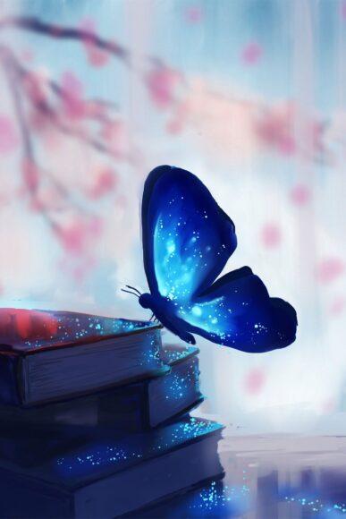 hình ảnh con bướm đẹp trên trang sách