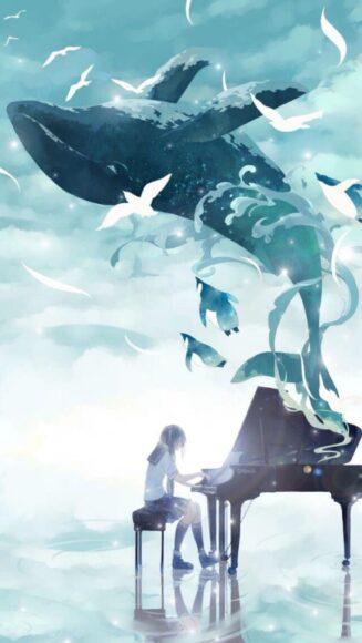 hình ảnh con cá voi trắng đẹp kỳ ảo