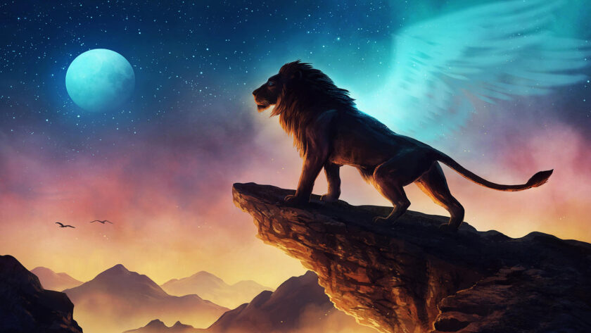 hình ảnh sư tử 3D