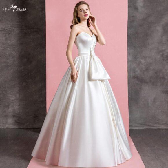 hình ảnh váy cưới trơn cúp ngực