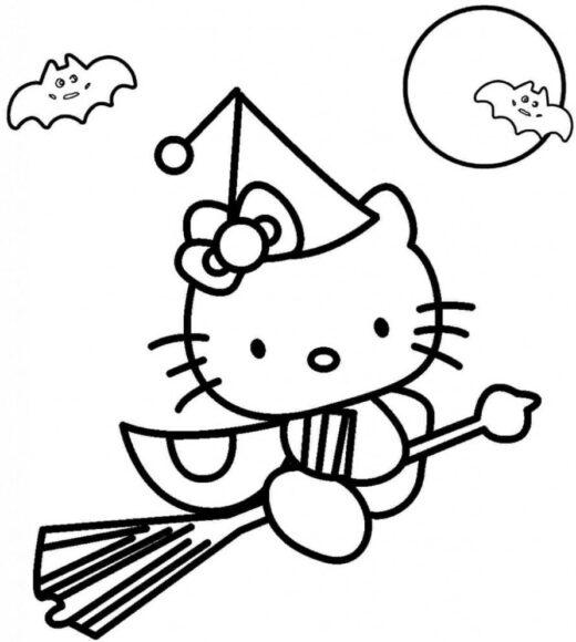Hình vẽ Hello Kitty trong ngày lễ Halloween