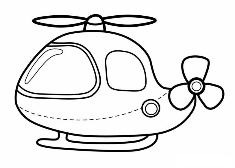 Hình vẽ máy bay dành cho bé 3 tuổi